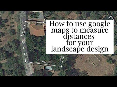 use google maps to measure landscape