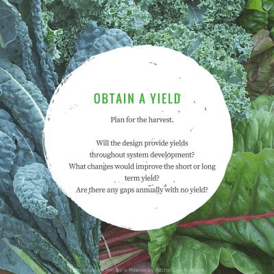 obtain a yield