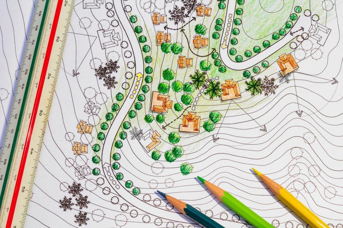 35422626 landscape architect designing on site analysis plan